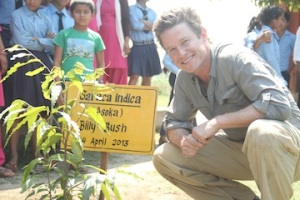 a gift of an Asoka tree from the eco club, named after me that will grow at the local chitwan school.  it moved me to tears.  that said, I am a cryer
